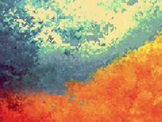 # Leaves In The Woods Abstract Hd Wallpaper Desktop, Nature Wallpaper, Cool Wallpaper, Wallpaper Backgrounds, Abstract Backgrounds, Abstract Art, Geometric Art, Modern Art, Artwork