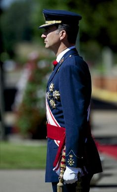 King Felipe VI of Spain attends an official Air Force Academy ceremony at Military Airfield Virgen del Camino, 09.07.2014 in Virgen del Camino, Spain.