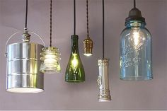 I quite like this marvelous tall lamp möbel selber machen möbel selber machen Diy Luz, Diy Luminaire, Let Your Light Shine, Repurposed Items, Mason Jar Lamp, Pendant Lighting, Pendant Lamps, Pendants, Cheap Pendant Lights