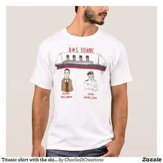 Titanic shirt with the ship's designer and captain
