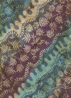 Artistic Artifacts creates this fabric in Indonesia. The large pattern is a full width silk screen with discharge