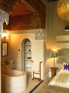 bathroom at ryad dyor hotel, marrakech