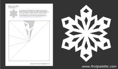 Twelve free printable snowflake templates to fold and cut into beautiful paper snowflakes.