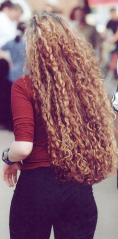 curly red hair. Not this long but I've always wanted hair like this =)