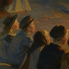 """Midsummer's Eve bonfire on Skagen's beach"" [Detail] (1906)  By Peder Severin Krøyer"