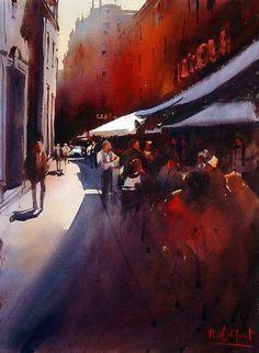 Alvaro Castagnet 1954 | Uruguay | Expressive Watercolor painter
