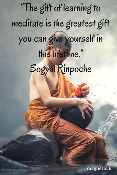 """give yourself in this lifetime."""" Sogyal Rinpoche Meditation has so many benefits and now is a good time to start! Click here for meditation books and dvds"""