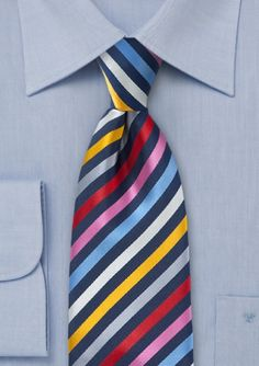 Bright Stripe Neck Tie $14.90
