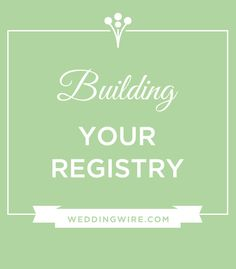 """""""When do I start my registry?"""" """"How many places do I register & where?"""" The answers to your registry questions are just a click away!"""