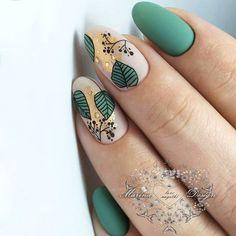 Boho nails & boho ngel & clous boho & uas boho & boho fashion, boho h . - Boho nails & boho nägel & clous boho & uñas boho & boho fashion, boho home, boho bedroom, - Green Nail Designs, Nail Art Designs, Nails Design, Cute Acrylic Nails, Matte Nails, Matte Green Nails, Nagellack Design, Pretty Nail Art, Elegant Nail Art