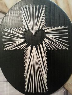 String Art Cross Plaque