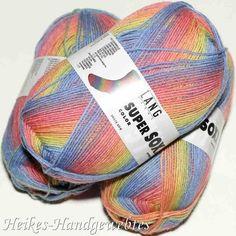 Super Soxx Color 4-fach Regenbogen von Lang Yarns Super, Footwear, Colors, Rainbow Colours, Nice Asses, Shoe, Shoes, Zapatos