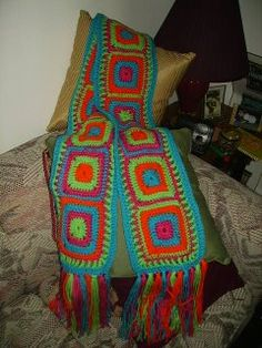 Free Crochet Granny Square Scarf Patterns : 1000+ images about Crochet (scarfs & cowls)#1 on Pinterest ...