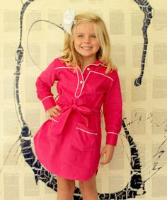 Take a look at this Hot Pink Corduroy Ali-Scott Dress - Infant, Toddler & Girls on zulily today!