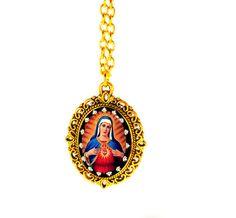 Mother Mary Religion Jewelry Saint Mary Catholic by DoniainArt