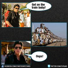 This is what happened when King Khan said 'Get on the train baby'!