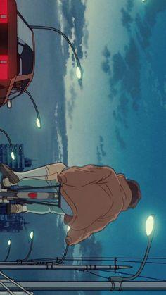 5번째 이미지 Aesthetic Art, Aesthetic Pictures, Aesthetic Anime, Animes Wallpapers, Cute Wallpapers, Film Animation Japonais, Film Anime, Blue Anime, Dark Anime