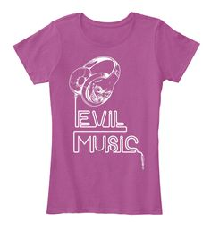Evil Music T Shirts Heathered Pink Raspberry Women's T-Shirt Front