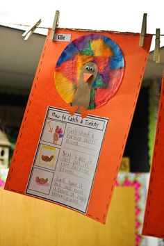 How-to catch a turkey writing craftivity - perfect for Thanksgiving!