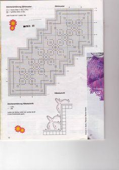 Another filet crochet plarn rug graph? Maybe.