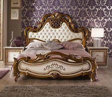 NEU HOCHWERTIG Luxus Bett Arina in beige/gold Italien Barock 180x200