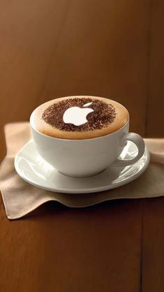 #Coffee with Apple logo