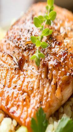 garlic ginger glazed salmon