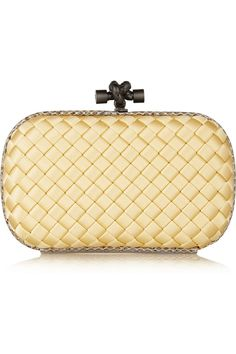 BOTTEGA VENETA The Knot Snake intrecciato satin clutch Cream $1395 (Compare Elsewhere $1550) SHIPS FREE BEST PRICES YOU WILL FIND ANYWHERE ON GENUINE LADIES DESIGNER BRANDS! FREE WORLD SHIPPING & LOCAL DELIVERY AVAILABLE AT THE SURF CITY SHOP in Huntington Beach, California Major Credit Cards Accepted