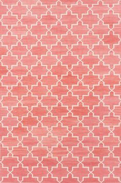 A rosy rug Add vibrancy to a room with a blushing coral carpet. Use it as the focal point to set up the colour scheme, and tie in with furniture of more subtle shades to create a harmonious and organic palette. Tip: Hop on the layered rug trend by adding a second carpet over top that has a modern pattern in a complimenting shade, or a solid color like white or gray.
