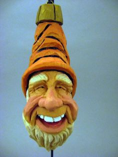 wood carving patterns | Hand Carved Elf Christmas ornament by CarvingsbyTony on Etsy, $38.00