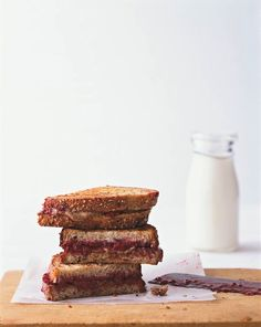 Even better than peanut butter and jelly: Grilled almond butter and raspberry jam sandwiches! Get the recipe here: http://recipes.womenshealthmag.com/Recipe/grilled-almond-butter-and-berry-sandwiches.aspx
