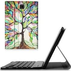 Fintie Samsung Galaxy Tab E 8.0 Keyboard Case, Slim Fit PU Leather Stand Cover w/ Removable Bluetooth Keyboard,Love Tree