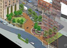 Printer's Row Pocket Park | Landscape Architecture Design