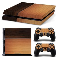 PS4 Skin Wooden Decal  2x Controller Skins