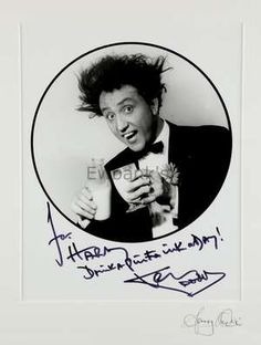 Ken Dodd, English Comedian, Four photographs, four inscribed with messages from Ken Dodd to Harry Goodwin, signed vinyl LP Don't Let Tonight Ever End & another portrait of Ken Dodd taken by Harry Goodwin in his early career, all framed, largest 30 x