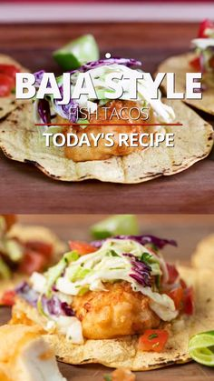 Slaw For Fish Tacos, Cod Fish Tacos, Fried Fish Tacos, Mexican Fish Tacos, Fish Burrito, Mexican Slaw, Easy Fish Tacos, Best Seafood Recipes, Fried Fish Recipes