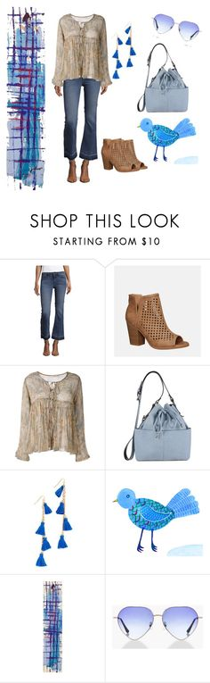 """""""Blue bird on my shoulder"""" by anwehe ❤ liked on Polyvore featuring Hidden, Avenue, Mes Demoiselles..., Miss Selfridge, Vanessa Mooney, NOVICA and Boohoo"""