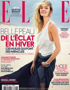 Constance Jablonski en couverture de ELLE cette semaine