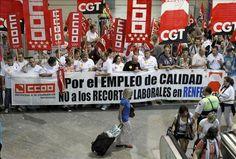 CRÓNICA FERROVIARIA: España: Movilizaciones conjuntas en Renfe y Adif p...