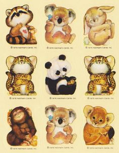 VTG Hallmark Stickers - BABY ANIMALS. I had a lot of these gorgeous stickers.