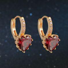 Classic Design Rose Gold Plated Cushion Cut Big CZ Diamond Wedding Hoop Earrings for Women DFE818