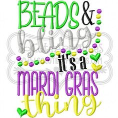 Embroidery Design X X Beads Bling By Socuteappliques Mardi Gras Food Mardi Gras Party