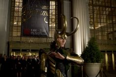 Those horns remind me of that crazy character in True Blood Maryann when she turned into the beast. (Still of Tom Hiddleston in The Avengers)