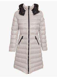 48143a27 Women Moncler White Lightweight Long Puffer Parka #moncler #womanjacket  #whitejackets #monclerwoman #womanfashion #
