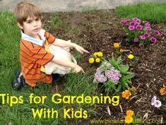 Tips for Gardening With Kids from The Pleasantest Thing