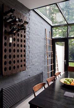 Modern and rustic, big windows