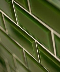 MH Dark Green Bevel Tile. Half way up bathroom. £140 per share
