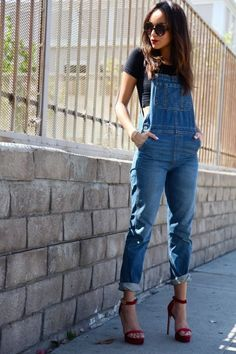 I'm feeling the overalls and heels!!! Think i need this =)