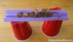 Science Activity: Bridge Design 3 with pennies Primary Science, Kindergarten Science, Science Education, Science Fair, Science For Kids, Billy Goats Gruff, Traditional Stories, Kid Experiments, Construction Theme