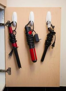 when i get home i am so doing this to all of my hair styling tools this will solve my problem of all the sloppy cords everywhere and hanging my styling tools on a towel ring